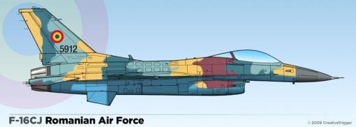 """In viziunea lui Trigger, aşa ar arăta un F-16 """"machiat"""" în Lancer A"""